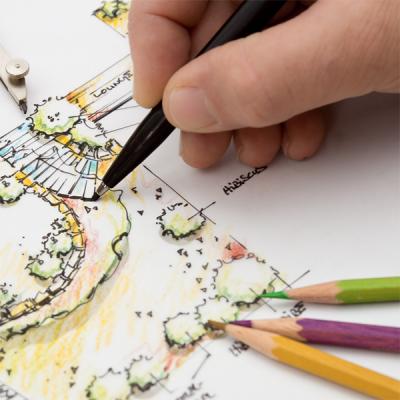 Designul personalizat pleaca de la o schita desenata pe hartie