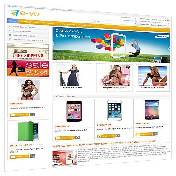 Versiune demo magazin online E-vo X